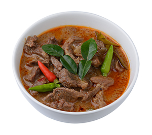 Panang curry with venison