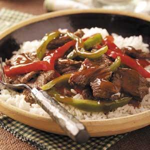 Sweet pepper venison stir fry