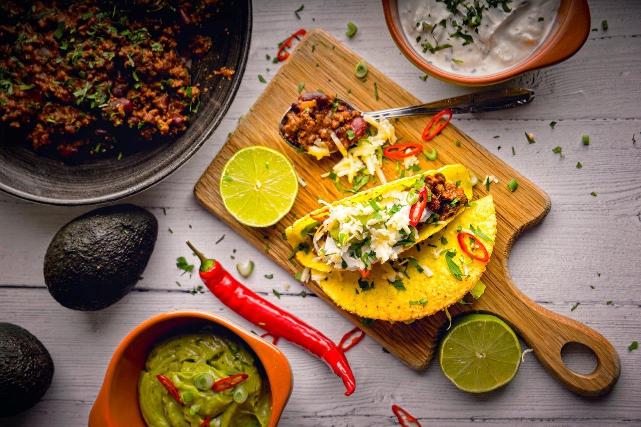 Venison Chilli Con Carne with Tacos