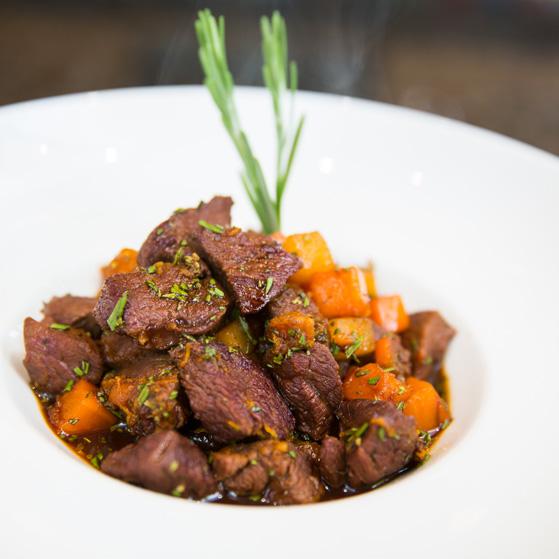 Diced venison steak