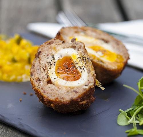 Mini venison scotch eggs