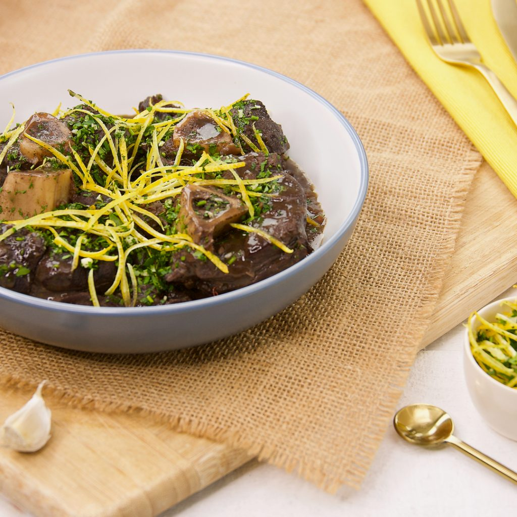 Venison Osso Bucco with Lemon & Parsley Gremolata